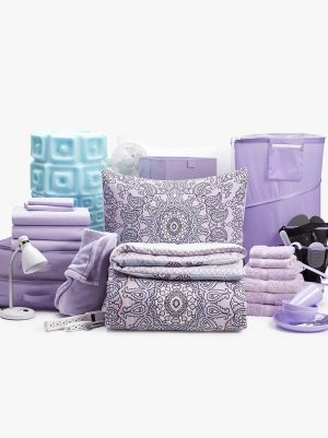 campus living lilac dorm room essentials bundle for college students