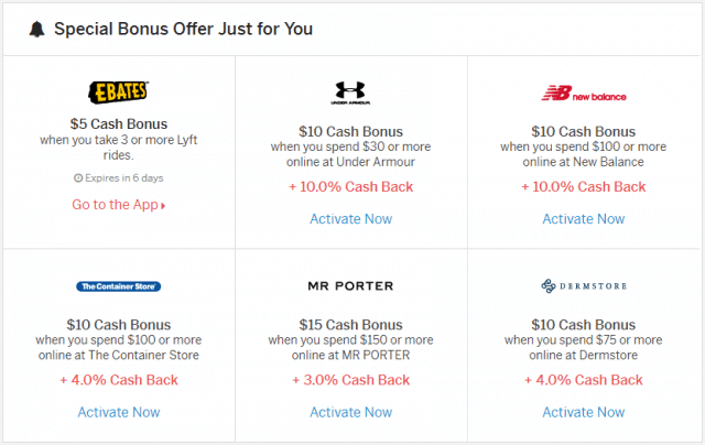 ebates review - special bonus offers