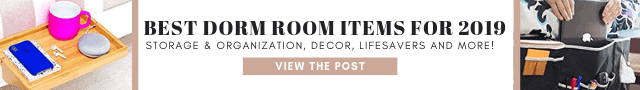 Best dorm room items for 2019 (1)