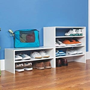 dorm storage ideas closet shoe shelf