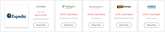 save money on spring break - ebates travel screenshot