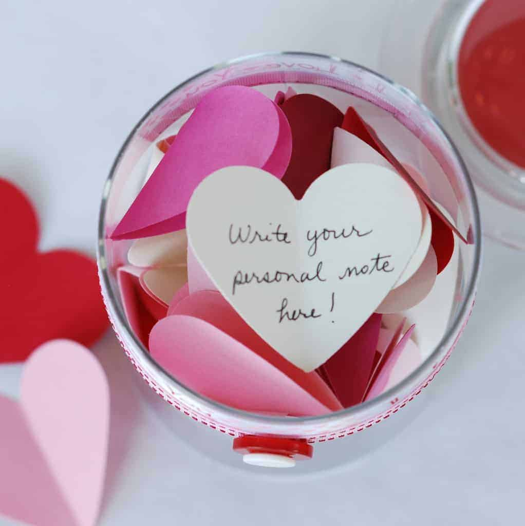 valentine's day ideas for college students - mason jar with notes