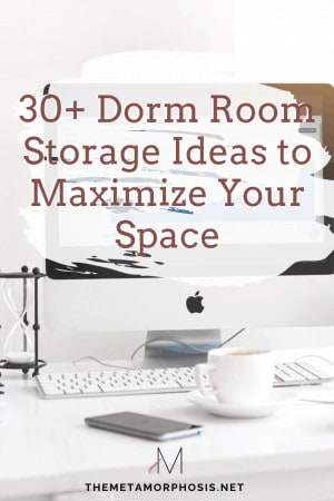 30+ dorm room storage ideas to maximize your space