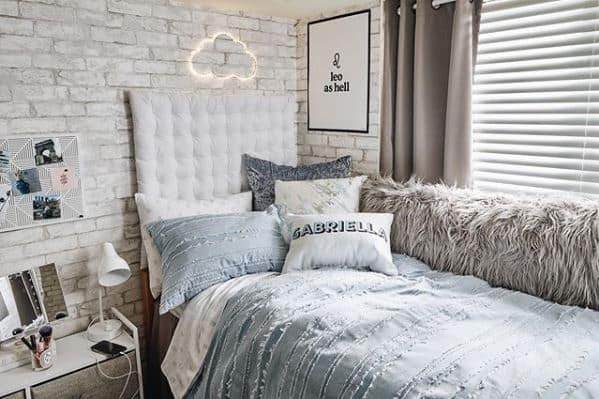 dorm room ideas - cool tone theme