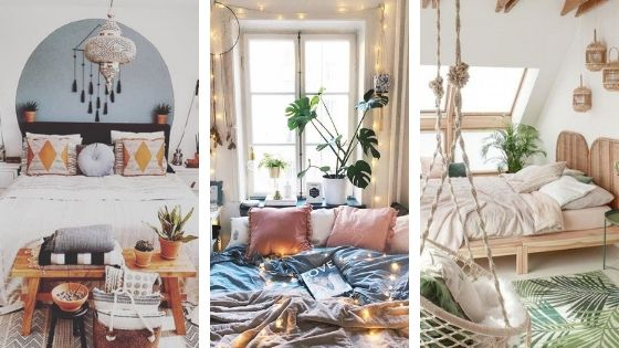 bohemian bedroom ideas banner