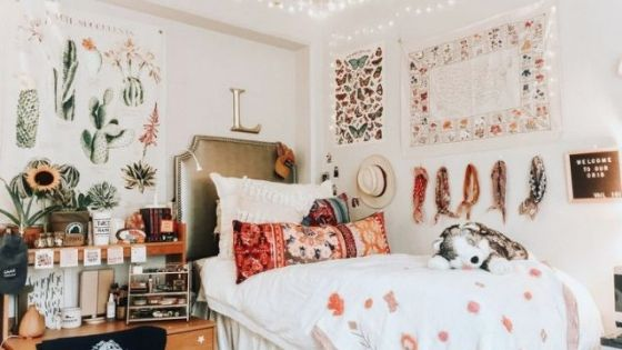 college dorm room must haves banner