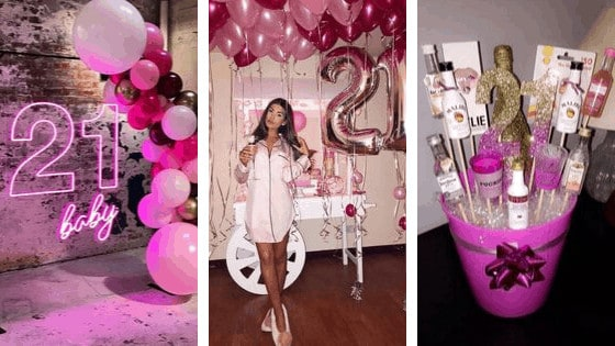 21st birthday ideas banner