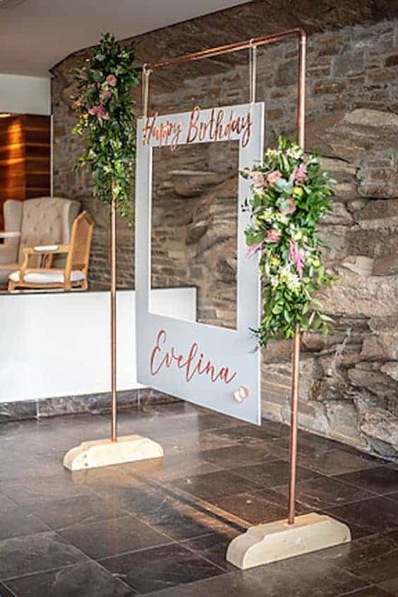 A simple and elegant photo booth setup.