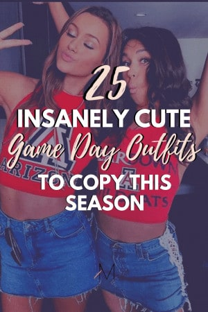 25 insanely cute game day outfits for college students
