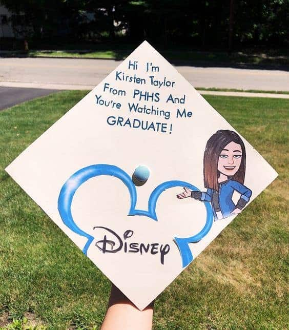 disney channel graduation cap ideas