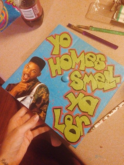 fresh prince graduation cap ideas