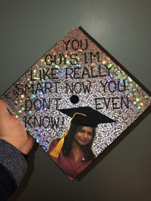 kelly graduation cap design