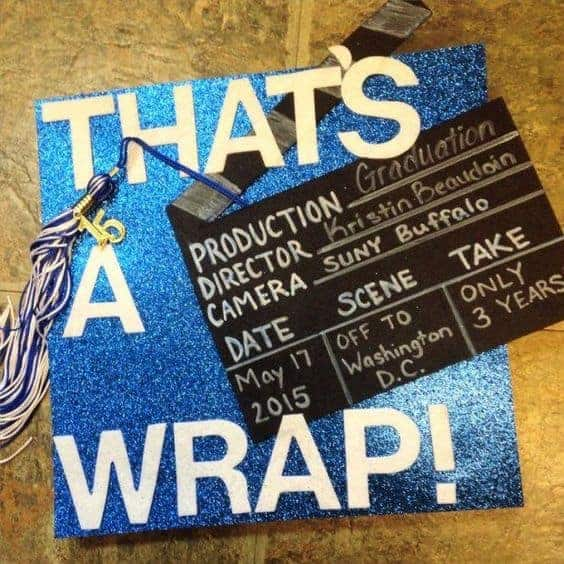 that's a wrap graduation cap