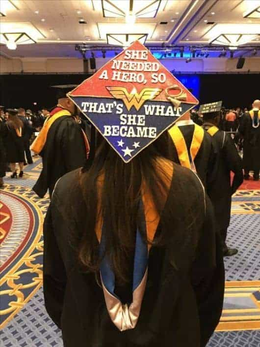 wonder woman graduation cap idea