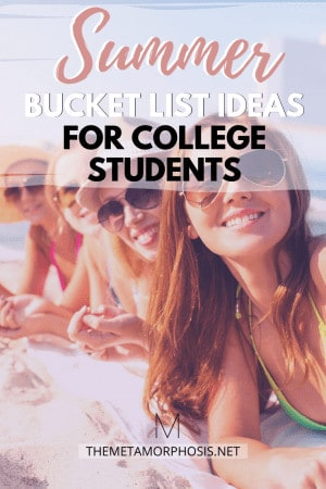 summer bucket list ideas for college students