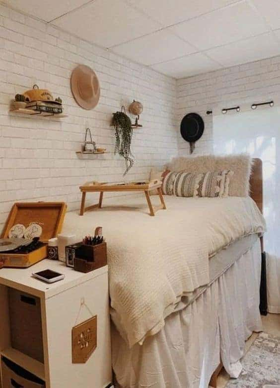 boho dorm room ideas neutral