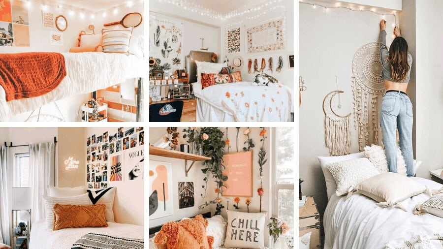 boho dorm room ideas banner