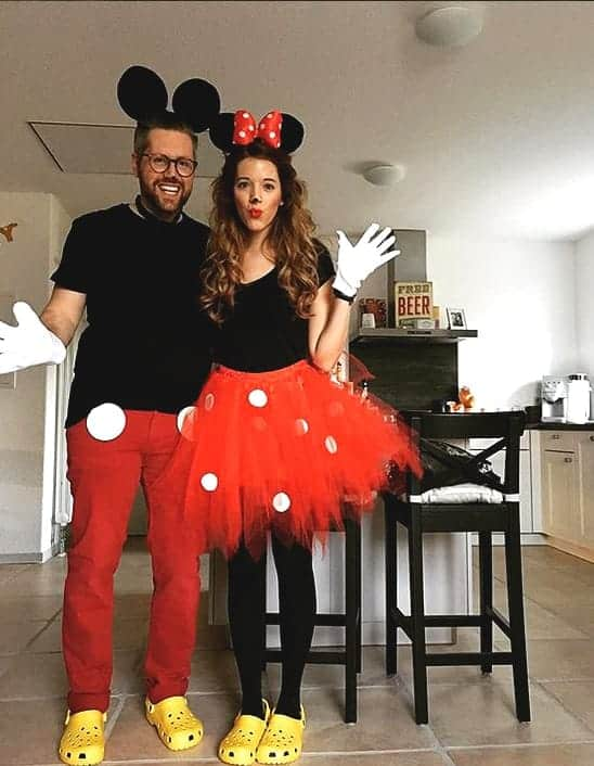 halloween costumes for couples mickey mouse