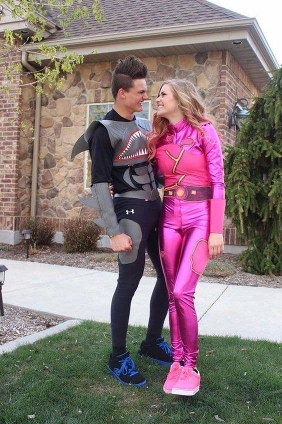 shark boy and lava girl halloween costume