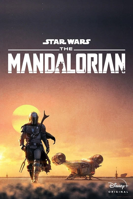 A poster of the movie Star Wars The Mandalorian.