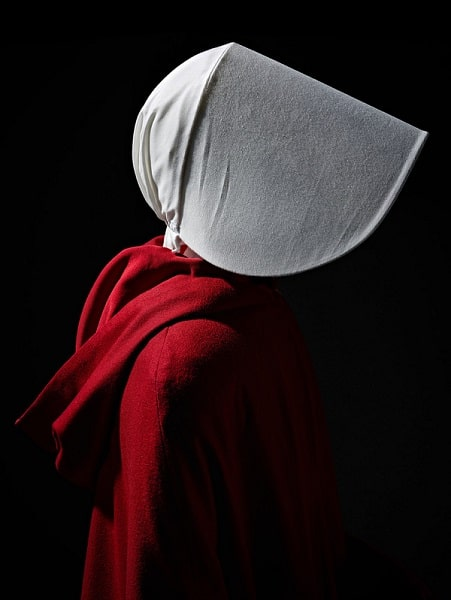 The cape used by Elisabeth Moss as Offred in The Handmaid's Tale.