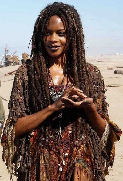 Soothsayer and Caribbean priestess Tia Dalma from the movie Pirates of the Caribbean.