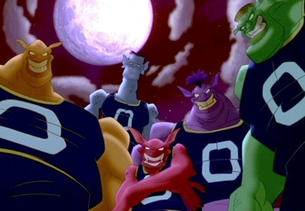 The 5 Monstars from the movie Space Jam, wearing their basketball jerseys and shorts.