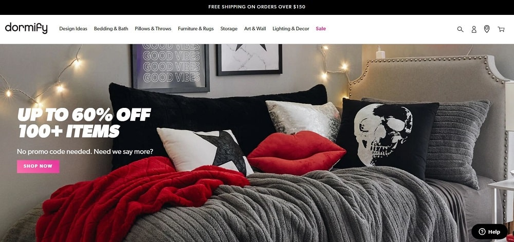 This is a screenshot of the Dormify website.